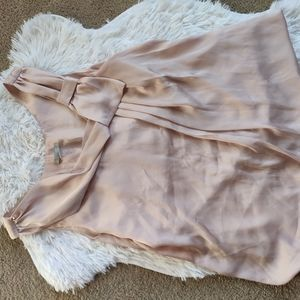 H&M satin blouse with bow on side sleeveless sz L